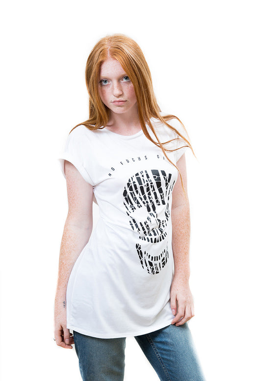 Ladies Fierce Zebra Skull Top