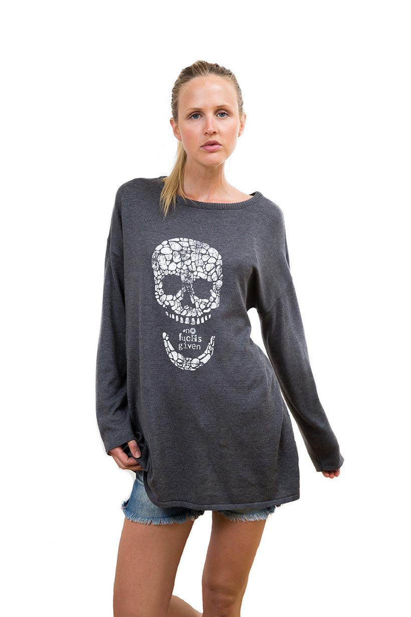 Ladies Scoop Neck Knitted Sweater