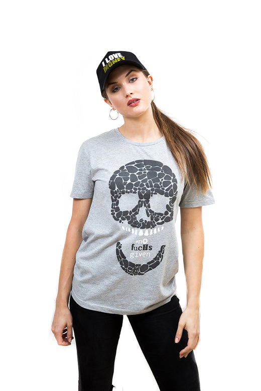 Ladies Skull Boyfriend T-Shirt