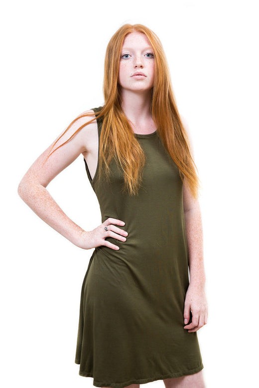 Ladies Essential Khaki Dress