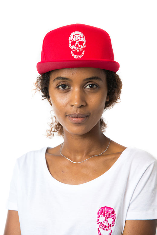 White Skull Red Cap