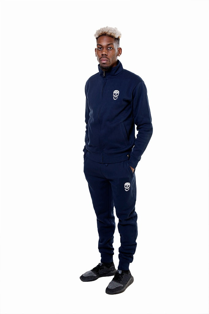 Mens Navy Sweat Jacket