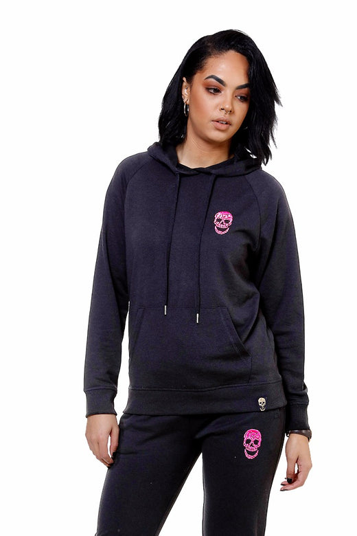 Ladies Black Hoody