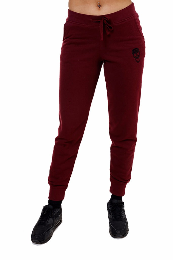 Ladies Burgundy Sweatpants