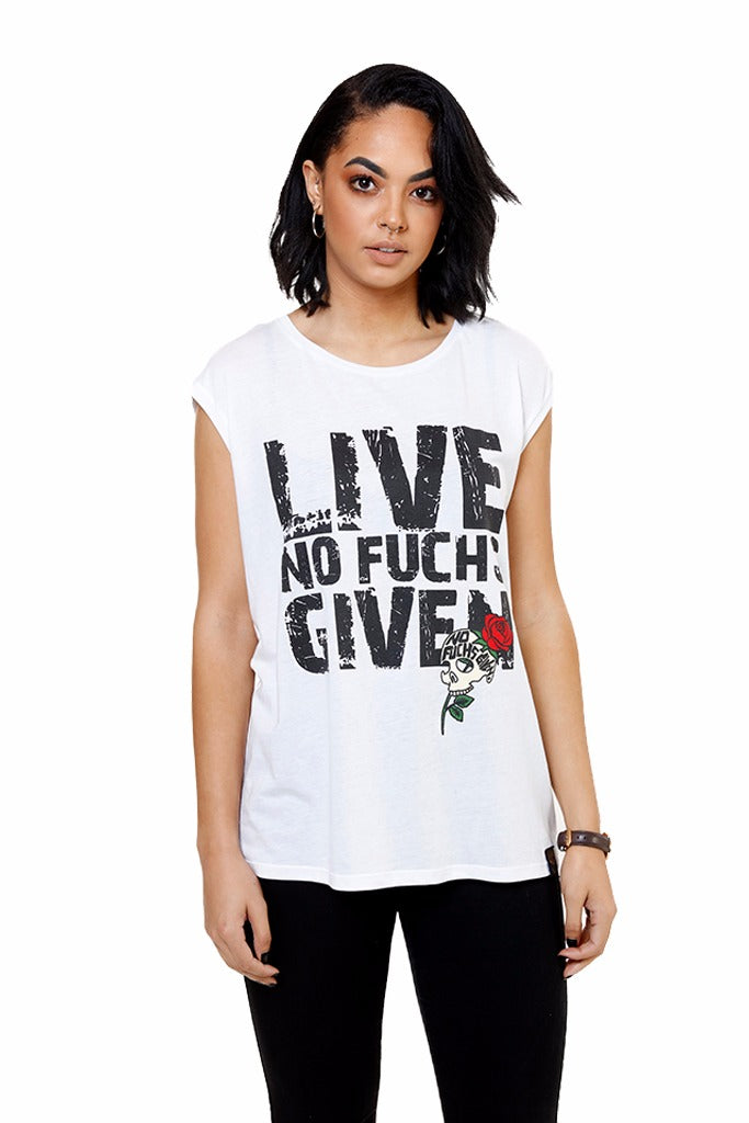 "Ladies ""Live No Fuchs Given"" Bamboo Shirt"
