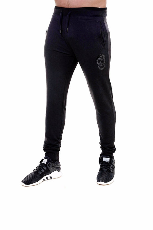 Mens Slim Fit Black Sweatpants