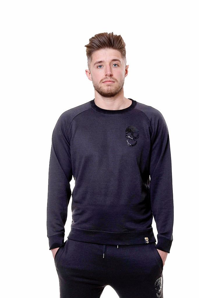 Mens Black Slim Fit Sweatshirt