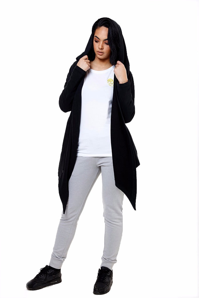 Ladies Black Skull Cardigan