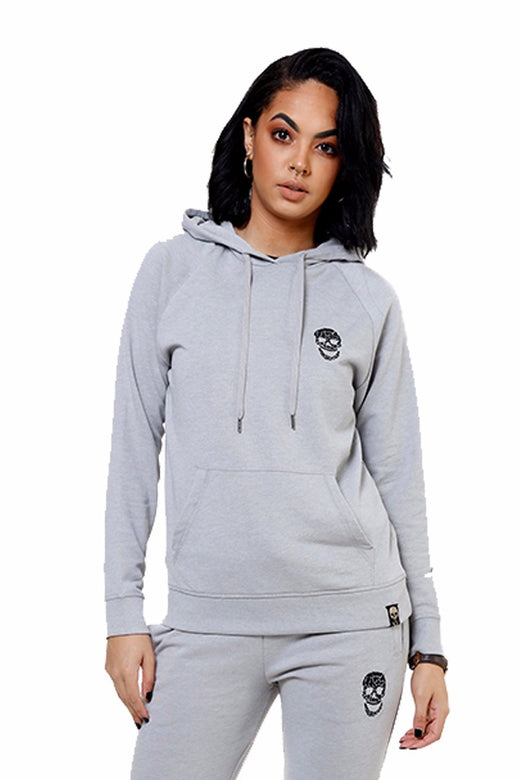 Ladies Silver Slim Fit Hoody