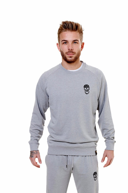 Mens Silver Slim Fit Sweatshirt