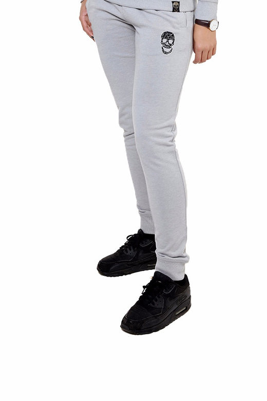 Ladies Slim Fit Silver Sweatpants