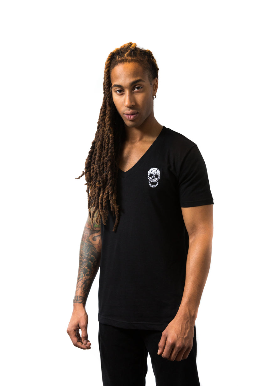 Mens Essential Black V-Neck T-Shirt