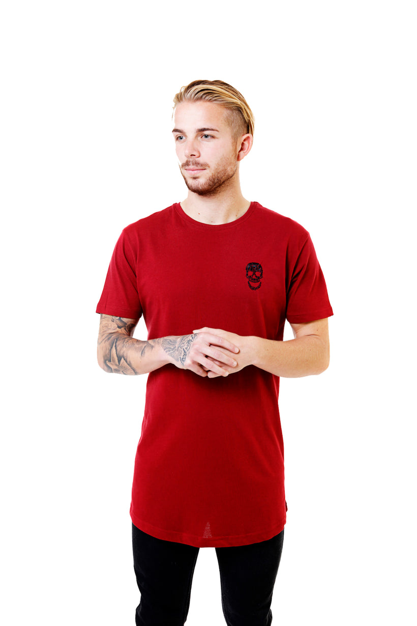 Mens Essential Burgundy T-Shirt