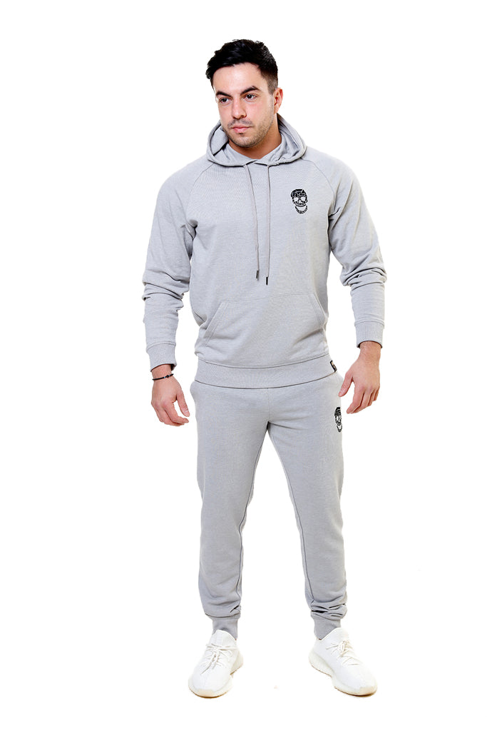 Mens Silver Slim Fit Hoody