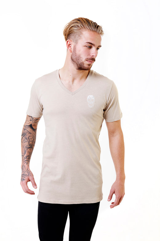 Mens Essential Sand V-Neck T-Shirt