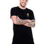 Mens Longline Black T-Shirt