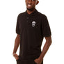 Mens Essential Chest Skull Black Polo
