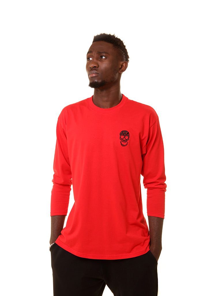 Mens Essential Red 3/4 Sleeves T-Shirt