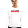 Unisex Essential Slogan White Sweatshirt