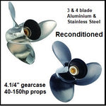 "D series 4.1/4"" gearcase recon aluminium & stainless steel propellers"