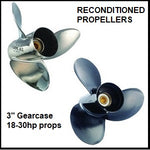 "B series 3"" gearcase recon aluminium & stainless steel propellers"
