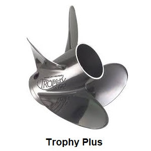 Trophy Plus stainless steel 4 blade propellers