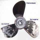 "14.1/8"" to 16"" diameter Aluminium Propeller Blade Repair Service 2, 3, or 4 blade"