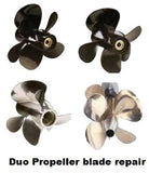 Duo propellers repair aluminium, stainless steel or bronze