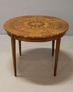 Table with marquetry