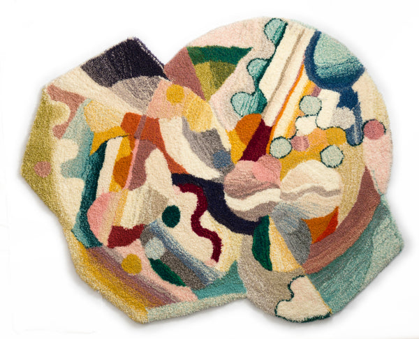 Tapestry Hand Tufted in wool and linnen by Camilla Iliefski