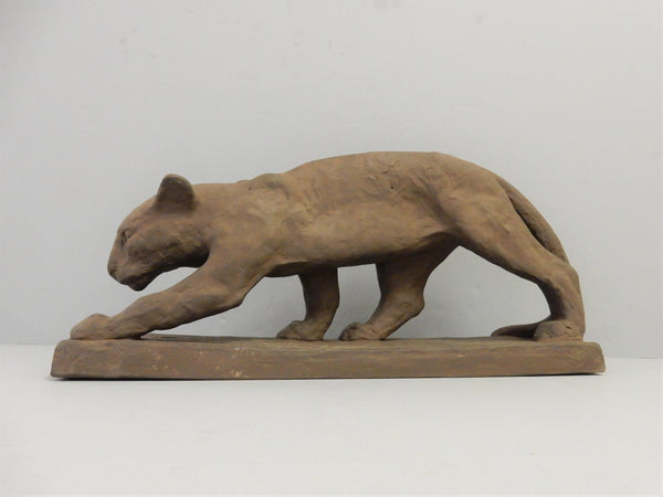 Panther Figurine by Else Bach for Karlsruhe Majolika