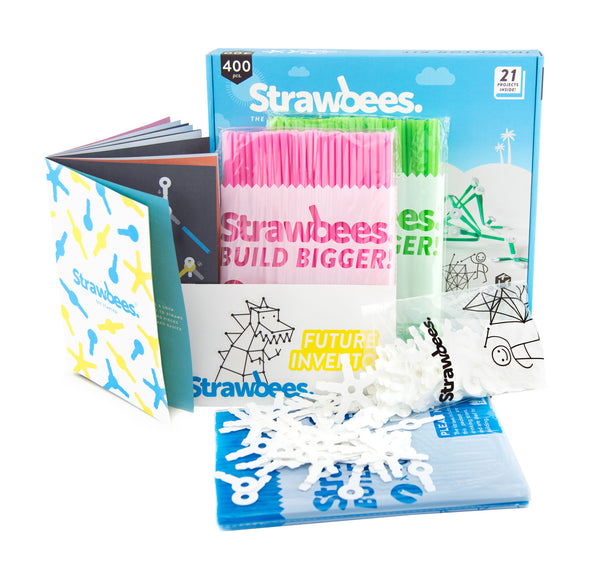 Strawbees inventor kit unbox uppfinnarkitt