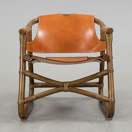 Espri, Rattan and Leather Armchair