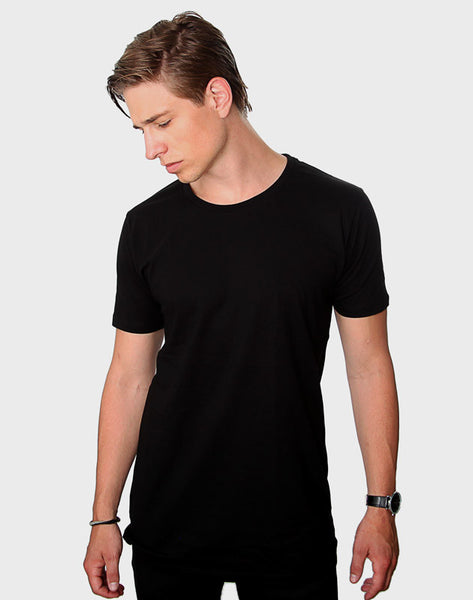 Fitted Fit - Modern Crew Neck, Sort T-shirt - ACC Store