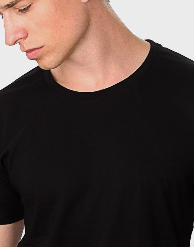 Fitted Fit - Modern Crew Neck T-Shirt, Sort - ACC Store