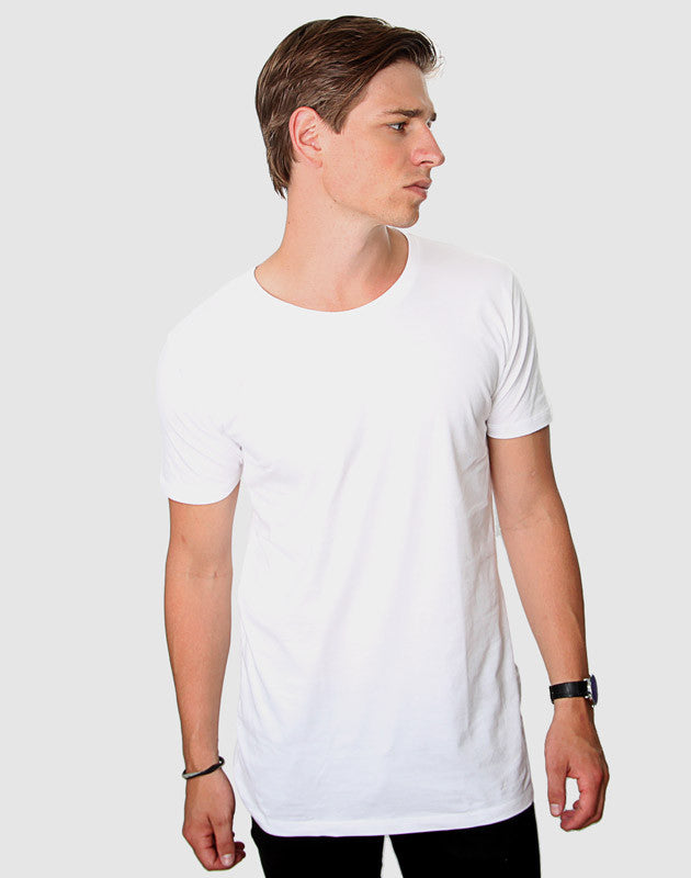 Fitted Fit - Modern Crew Neck T-Shirt, Hvid - ACC Store
