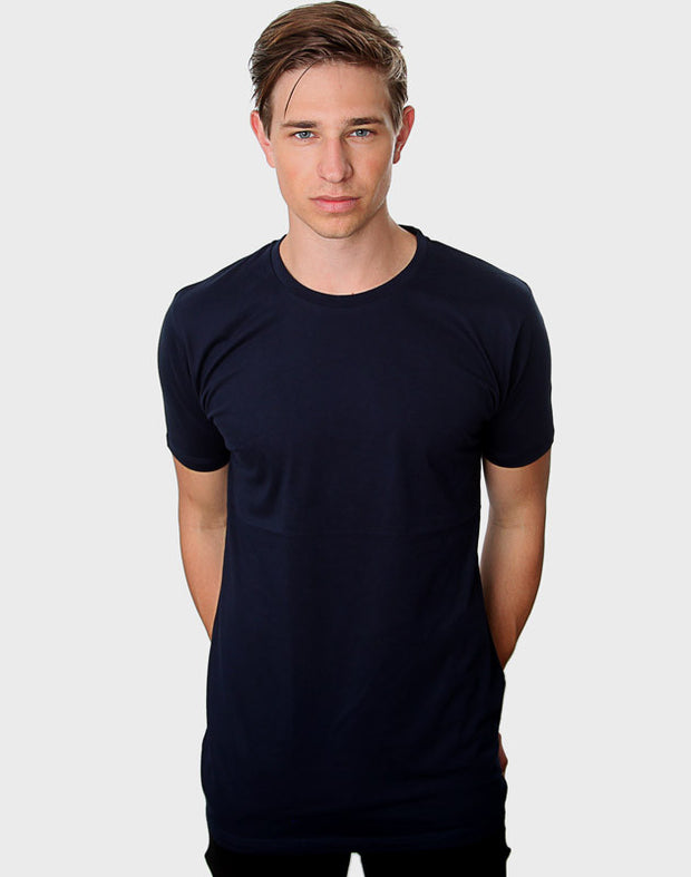 Fitted Fit - Modern Crew Neck, Navy T-shirt - ACC Store