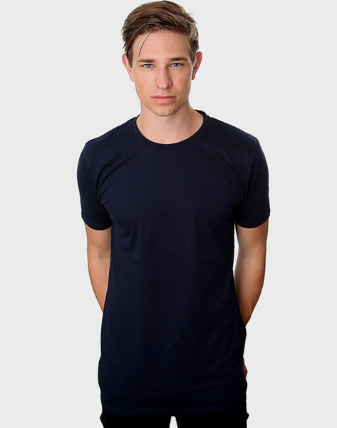 Fitted Fit - Modern Crew Neck T-Shirt, Navy - ACC Store
