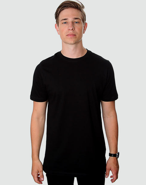 Fitted Fit - Crew Neck T-Shirt, Sort - ACC Store