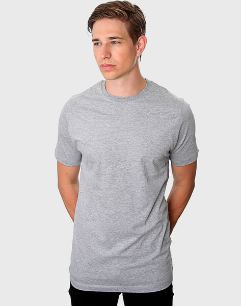Fitted Fit - Crew Neck T-Shirt, Oxford Grå - ACC Store