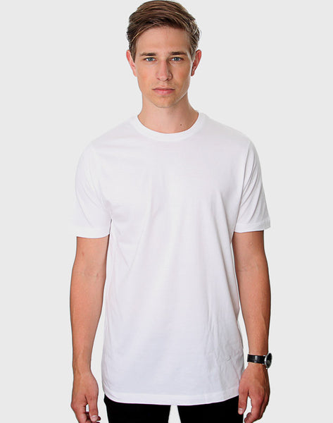 Fitted Fit - Crew Neck T-Shirt, Hvid - ACC Store