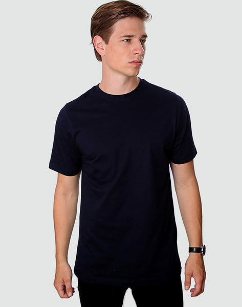 Fitted Fit - Crew Neck, Dark Navy