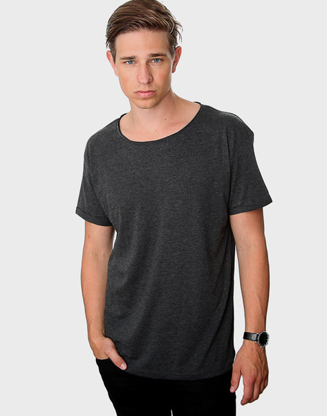 Regular Fit - Torn Crew Neck, Antrasit