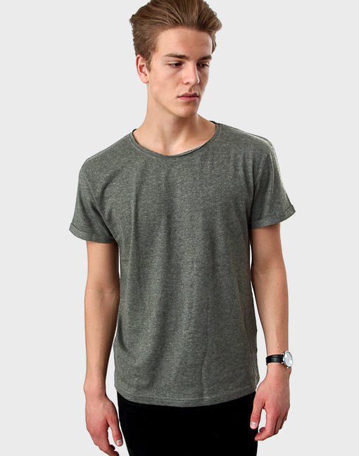 Tailored Fit - Torn Crew Neck, Heather Green