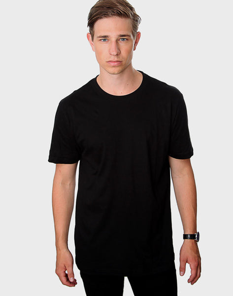 Tailored Fit - Classic Crew Neck T-Shirt, Sort - ACC Store
