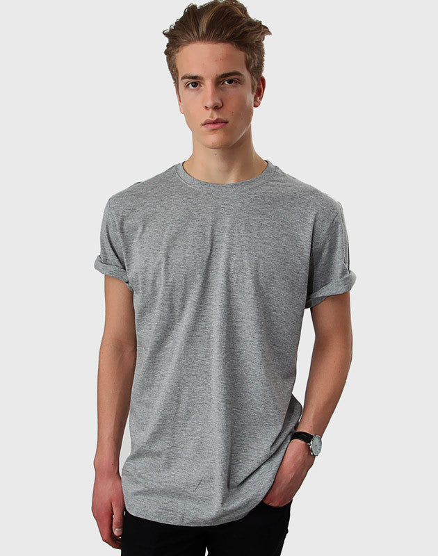 Tailored Fit - Classic Crew Neck T-Shirt, Oxford Grå - ACC Store
