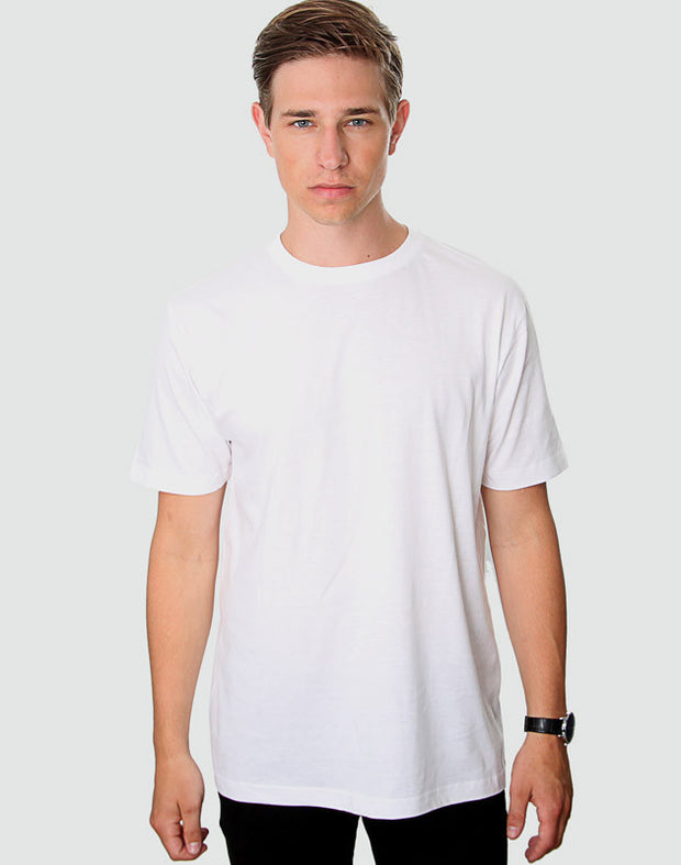 Tailored Fit - Classic Crew Neck, Hvid T-shirt - ACC Store