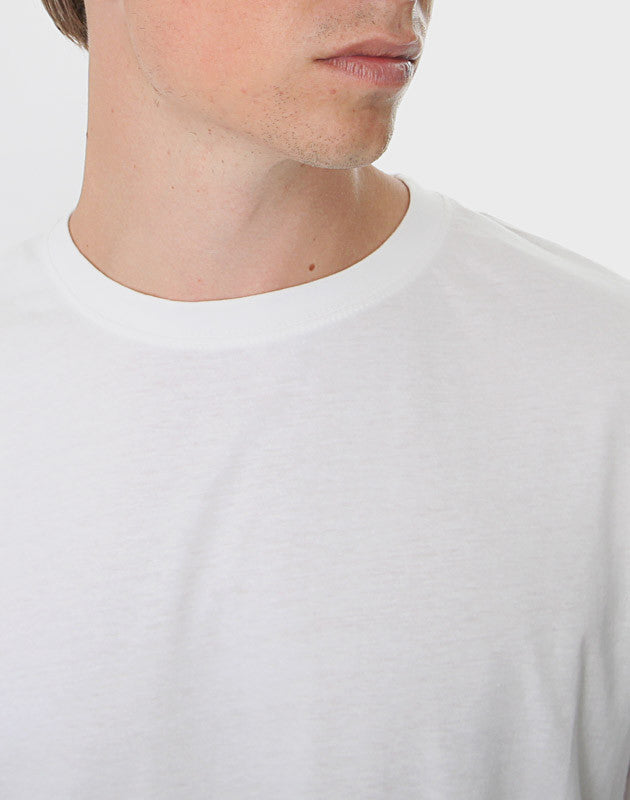 Tailored Fit - Classic Crew Neck T-Shirt, Hvid - ACC Store