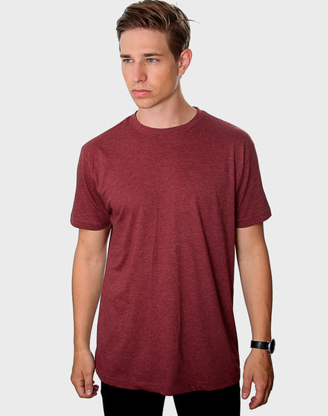 Regular Fit - Classic Crew Neck, Heather Bordeaux