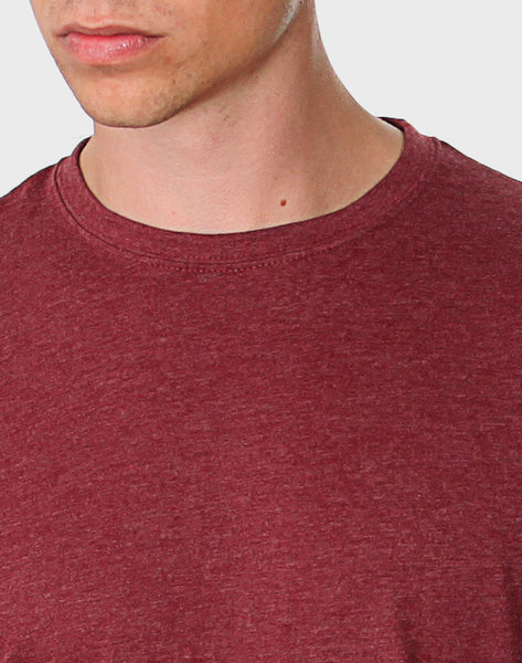 Tailored Fit - Classic Crew Neck, Heather Bordeaux T-shirt - ACC Store